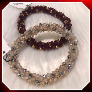 Set of Two Talbots Faceted Bead Bracelets